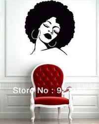 wall decals decor art mural sticker hairs head bedroom