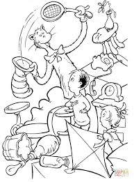 cat hat dr seuss coloring free printable