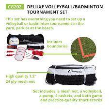 amazon com champion sports volleyball u0026 badminton set net