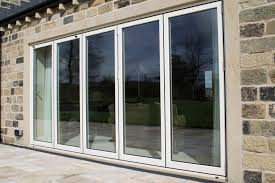 external glass sliding doors white wooden framed glass sliding door with modern blinds most