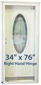 Exterior Doors Mobile Homes Feather River Doors 37 5 In X 81 625 In Silverdale Zinc 3 4 Oval