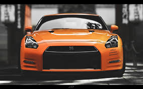 nissan orange 1440x900 orange nissan skyline gtr front desktop pc and mac wallpaper