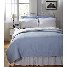 connie blue cotton seersucker duvet cover free shipping today