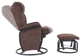 reclining swivel rocking chair amazon com merax home furniture ergonomic suede fabric swivel