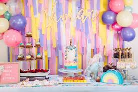 unicorn birthday party magical unicorn birthday party a la mode