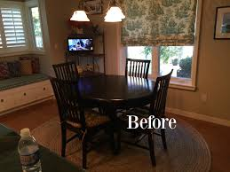 Smith Noble Roman Shades Before After Making A 20 Year Old Kitchen Current Classic
