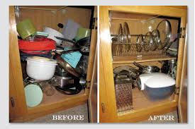 cleaning and organizing kitchen cabinets