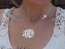 monogram necklace white gold white gold monogram necklace accordion necklace
