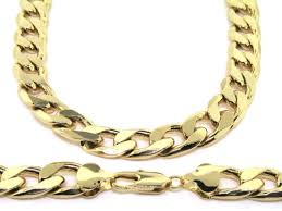 mens gold jewelry necklace images Luxury curb chain necklace 18k gold plated mens 13mm 20 jpg