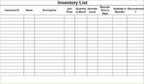 Simple Inventory Sheet Template Inventory List Inventory Checklist Template Success 6 Inventory