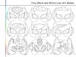 coloring pages pony party printable black by holidaypartystar on