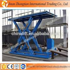 used electric lift table electric hydraulic car scissor lift table garage used car lifting