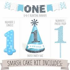 Cake Decorations For 1st Birthday Amazon Com 1st Birthday Boy Smash Cake Kit High Chair