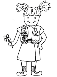 scout boys scout troop coloring page designs canvas cliparts