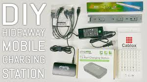 Diy Charging Station Ideas by 50 Diy Hideaway Mobile Charging Station Cablox U0026 Plugable Power