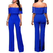 royal blue jumpsuit shoulder lace top jumpsuit addicted2fashion