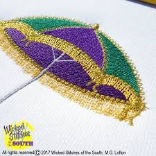 mardi gras umbrella mardi gras umbrella machine embroidery design 4 07w x 4 16h