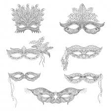 collection of ornamental masks vector premium