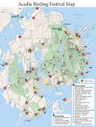 Acadia National Park Map Acadia Birding Festival