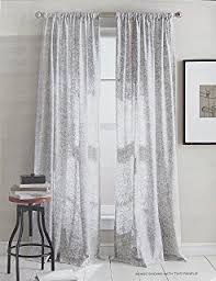 Cotton Drapery Panels Amazon Com Dkny Mineral Taupe Silver Rod Pocket Curtains 100