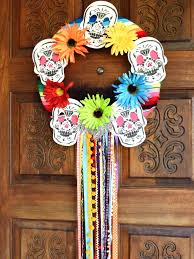 make a halloween wreath how to make a day of the dead halloween wreath how tos diy