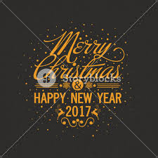 happy new year invitation merry christmas and happy new year 2017 lettering design creative