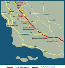 san francisco fault map san andreas fault in san luis obispo county