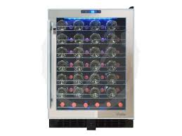 locking wine display cabinet vinotemp vt 54ts sm 54 bottle built in locking wine cooler locking