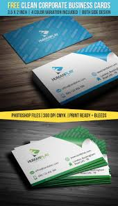 clean corporate business card template landisher