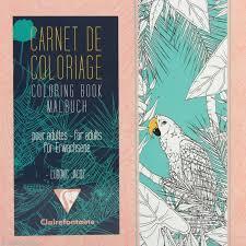 Carnet de coloriage Oiseaux pour adulte  18 pages  20 x 20 cm