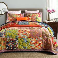 King Size Coverlet Sets Allover Stripes 100 Cotton 3pc Floral Vermicelli Quilted Patchwork