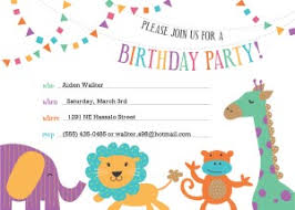 birthday invitation template printable zoo birthday invitation template