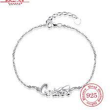 2018 top popular designer silver charm bangle bracelet letter cub