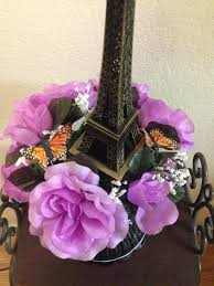 eiffel tower centerpieces eiffel tower centerpiece with butterflies and flowers for a
