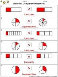 number names worksheets greater than less than fractions free