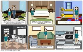 example storyboard for real estate walkthrough