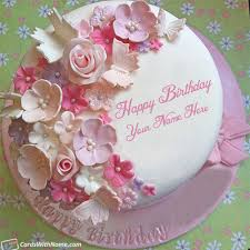stylish birthday cake for girls name maker