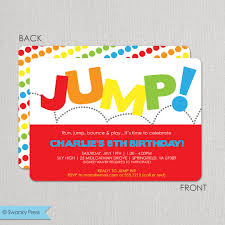 trampoline invitations sky zone party invitations trampoline party etsy invitation