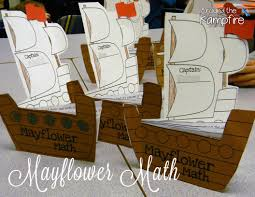 thanksgiving second grade mayflower math u0026 pilgrim parts of speech around the kampfire