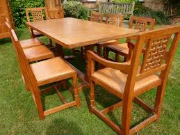atlas chairs and tables antiques atlas mouseman dining table and set 8 chairs