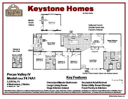 Mobile Home Floor Plans by The Pecan Valley Iv 30744p Manufactured Home Floor Plan Or Modular