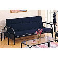 Sofa Lengths Amazon Com Coaster Modern Futon Sofa Couch Frame Black Metal