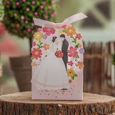 and groom favor boxes pink laser cut wedding favor box 100pcs wedding candy box