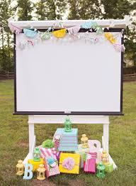 Backyard Movie Night Projector Trendy Outdoor Movie Night Teen Birthday Party Hostess With The