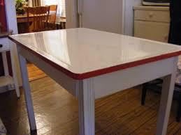 antique enamel top table vintage enamel top kitchen table by