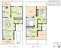 row home plans modern row house floor plans adhome