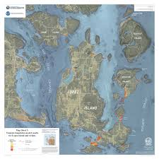 Washington State Earthquake Map by Newly Published San Juan Tsunami Inundation Hazard Maps