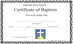certificate of baptism jeremy photos
