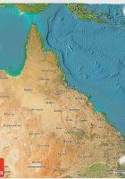 australia satellite map australia maps map of australia and satellite image wpmap org