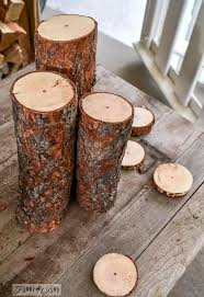 rustic fall centerpiece wood candles hometalk
